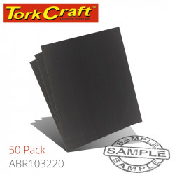 WATER PAPER 230 X 280MM 220 GRIT WET & DRY 50 PER PACK STD