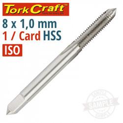 TAP HSS 8MM X 1.0 1 PER CARD